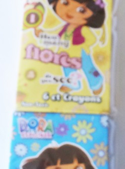 dora crayons, girls themed birthday party favours