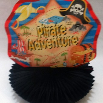 Pirate party table decorations, boys birthday pirate adventures