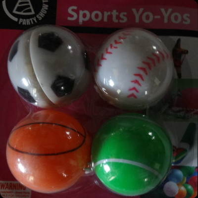 Sports yoyos, boys themed birthday party favour novelties