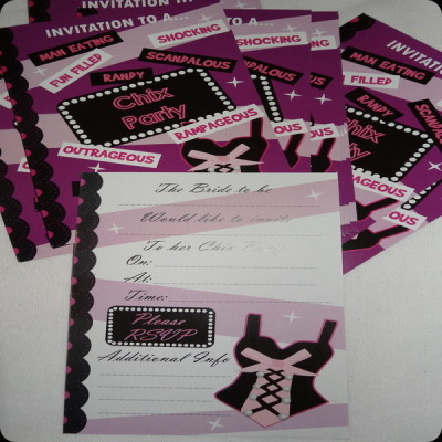 Girls night invites or hens night party invitations