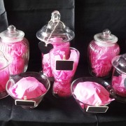 lolly buffet hire, glasses, scoops and tags