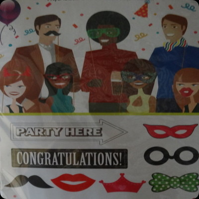 birthday photo booth props, party photos