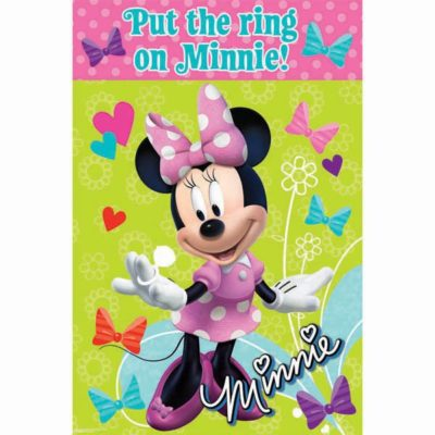 minnie mouse game, girls themed birthday party supplies