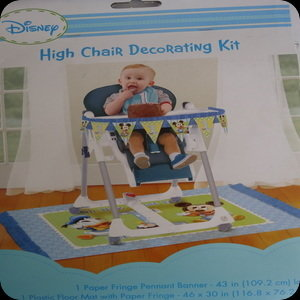 1st birthday mickey mouse high chair decorations