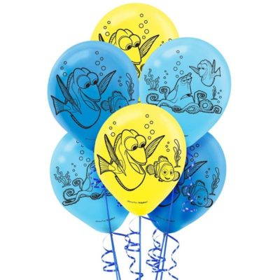 Dory party balloons, unisex birthday themed decorations