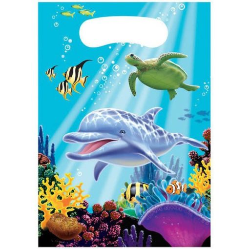 dolphin party bags, girls ocean birthday guest favours