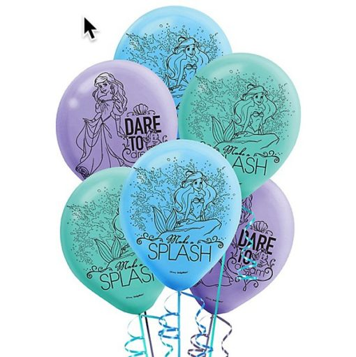 Ariel party Balloons, girls mermaid birthday party decorations